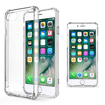 Moozy Funda Silicona Antigolpes para iPhone 5s / iPhone SE - Transparente Crystal Clear TPU Case Cover TPU Flexible