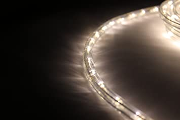 18Ft Rope Lights; Soft White LED Rope Light Kit; 1.0u0026quot;LED Spacing;