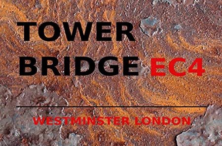 generisch Cartel de Chapa 20 x 30 cm Tower Bridge EC4 Cartel ...