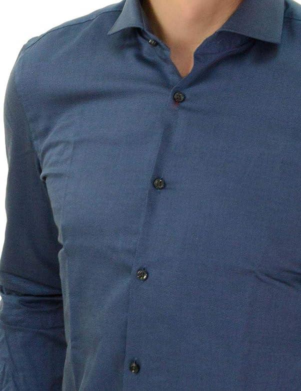 Camisa Hugo Boss Kason Azul Marino Hombre 41 Azul: Amazon.es: Zapatos y complementos