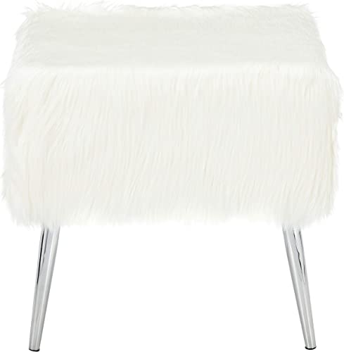 Cortesi Home Olivia Faux Fur Ottoman