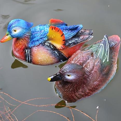 Ideal Amazon.com : Floating Mandarin Ducks Artificial Resin Decoy Baby  YT32