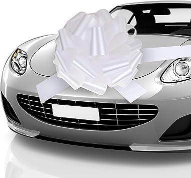 Zonon Lazo de Coche Lazo de Tirar Lazo de Envoltura de Regalos de Automóvil con Cinta