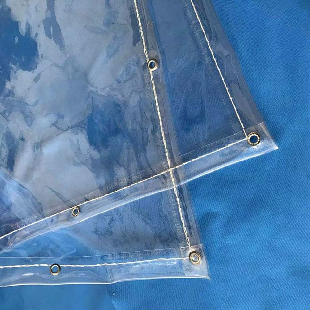 Lona al Aire Libre Transparente Espesar Plástico de PVC Lona a Prueba de Lluvia Protector Solar Balcón A Prueba de Viento Ventana Jardinería Suculentas Lienzo LIUDINGDING: Amazon.es: Hogar