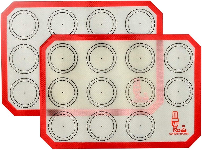 Non Stick Silicone Baking Mat Quarter Sheet Macaron - 8.2