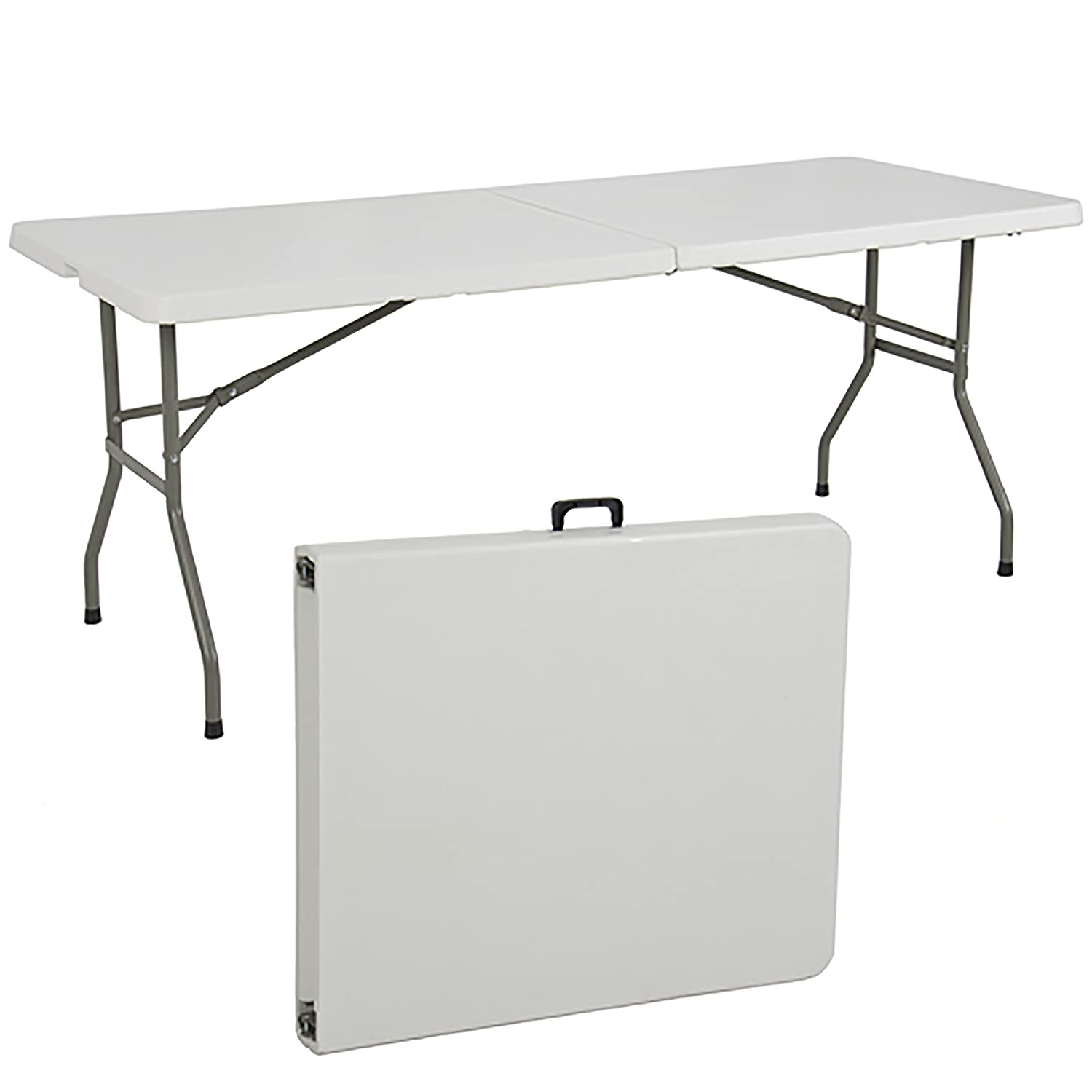 Best ChoiceProducts Folding Table Portable Plastic Indoor Outdoor Picnic Party Dining Camp Tables, 6: Amazon.es: Jardín