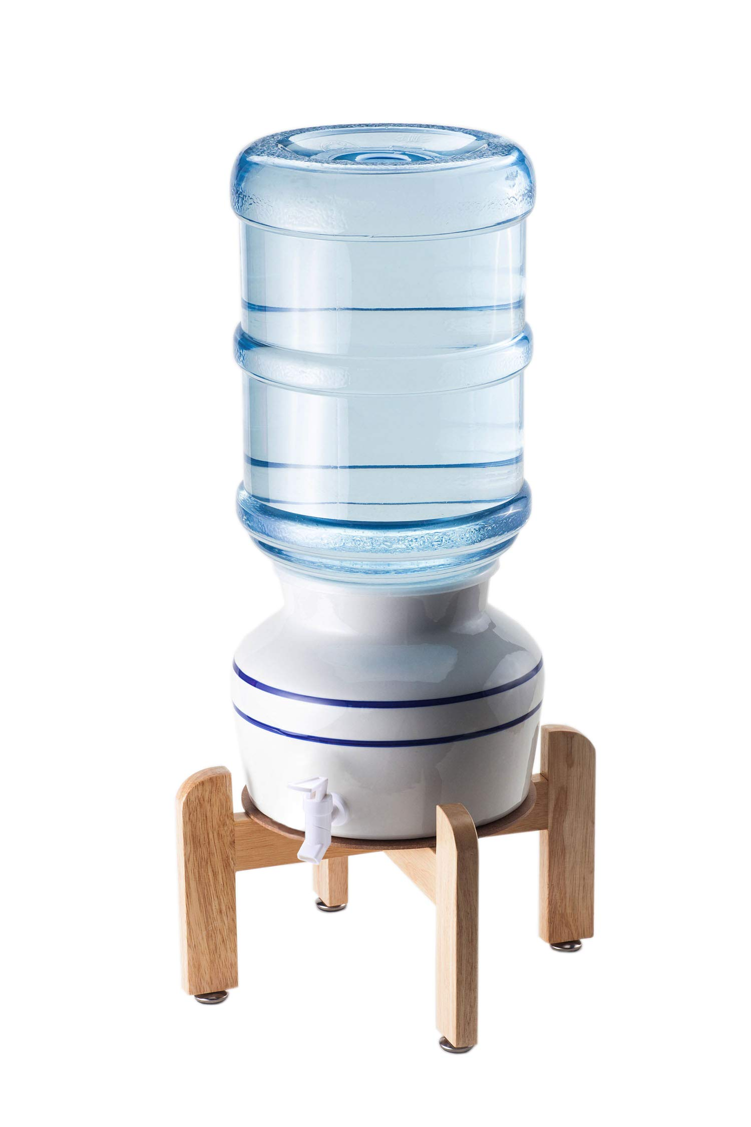 Sighompro Countertop Ceramic Water Dispenser with Faucet and Gasket, Mostly Used for 3 Gallon and 5 Gallon Water Bottles