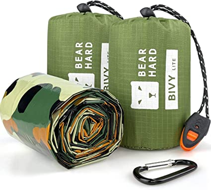 Waterproof Survival Sleeping Bags Thermal Bivy Sack with Heat Retention for Outdoor Camping Hiking Emergency Sleeping Bag