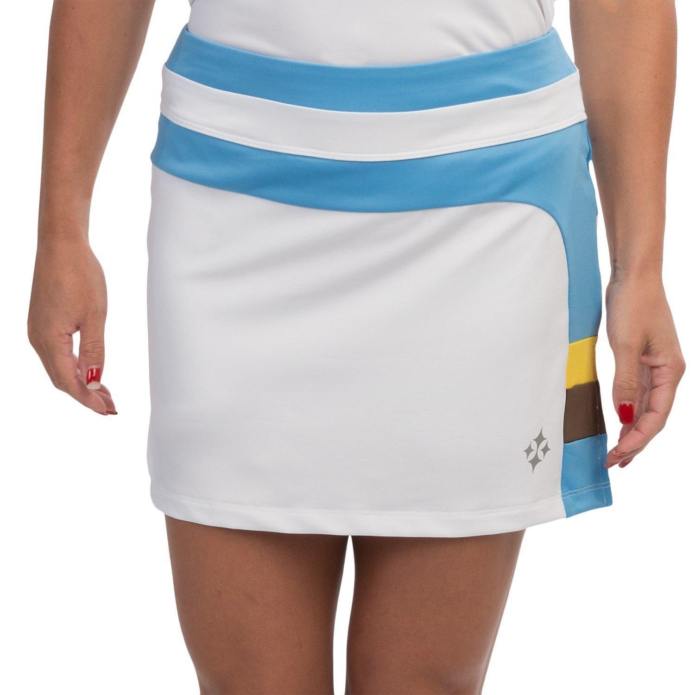 Jofit Sunny Tennis-Golf Skort Built-In Shorts (L, White)