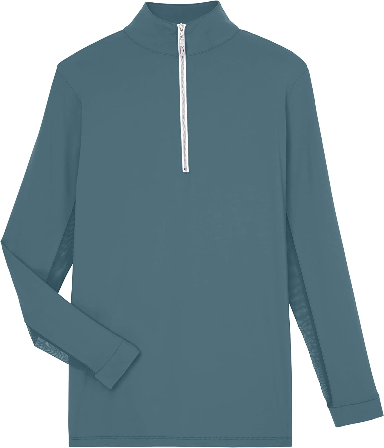 Lake Blue//Silver THE TAILORED SPORTSMAN Ladies Long Sleeve Sun Shirt Small