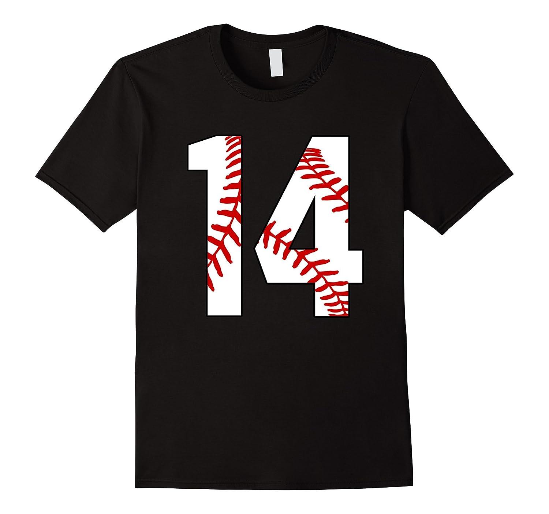 14 Baseball 14th Birthday Fourteen Baseball Mom T-shirt-PL