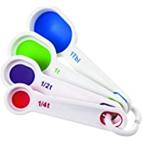 Prepworks by Progressive 369BE Flexible Measuring Spoons, Set of 5 Includes ¼ tsp, ½ tsp, 1 tsp, ½ Tbsp and 1 Tbsp