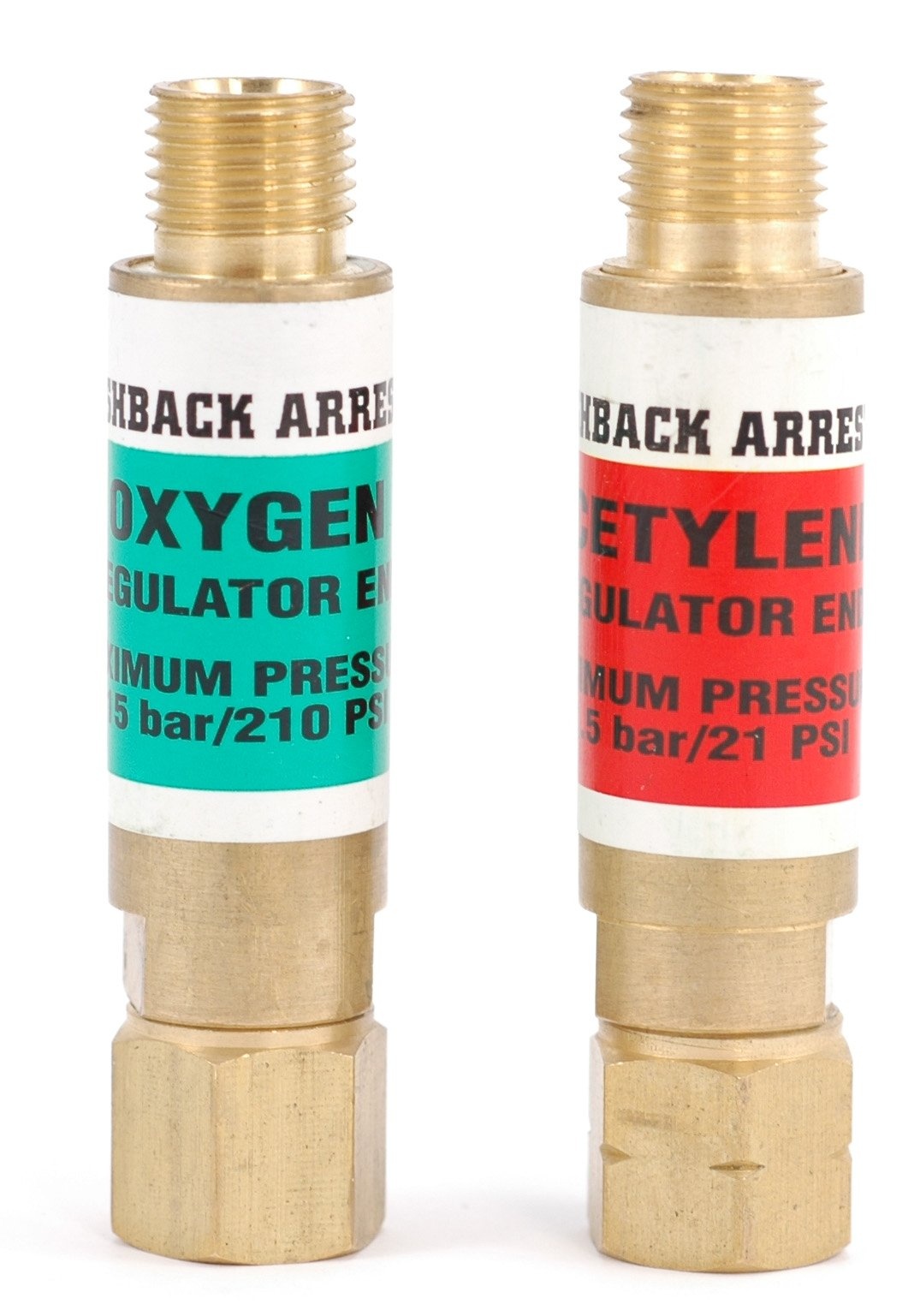 Hot Max 24010 Flashback Arrestor Set, Regulator End