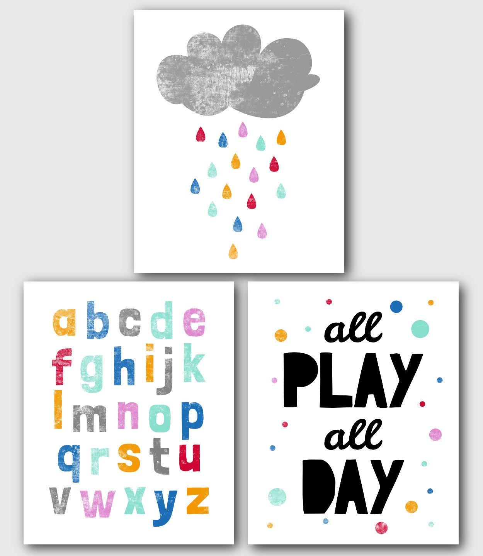 Unframed 8 x 10 Inches Play Print Scandinavian Nursery Art