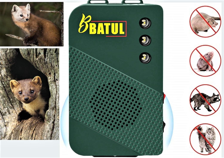 chats chiens garage contr/ôle de la martre et des rongeurs d/éfense des animaux sauvages pour voiture bus 2x appareil /à ultrasons mobile avec fonction de lumi/ères stroboscopiques /à LED grenier