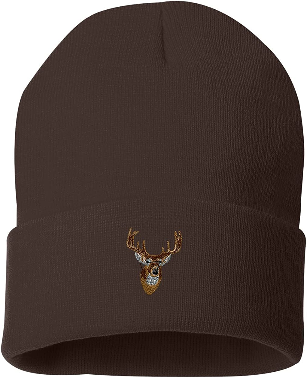 Whitetail Deer Head Custom Personalized Embroidery Embroidered Beanie
