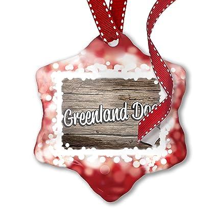 Christmas In Greenland.Amazon Com Neonblond Christmas Ornament Greenland Dog Dog