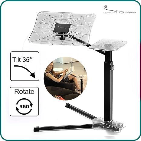 Tavolino Da Poltrona Regolabile.Porta Computer E Laptop Regolabile Per Divano Poltrona Letto Lounge Book Crystal Black