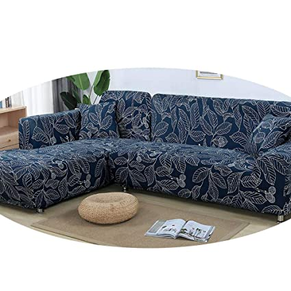 Surprising Amazon Com Zfadds L Shaped Sofa Cover Elastic Blue Sofa Pdpeps Interior Chair Design Pdpepsorg