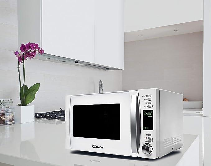 Candy CMXG 25DCW- Microondas con Grill y Cook In App, 40 Programas Automáticos, 900 W, 25 L, Blanco
