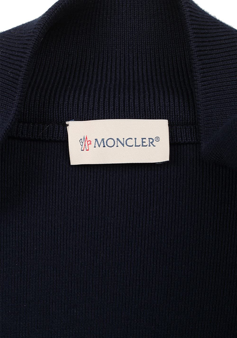 MONCLER CL Navy Maglia Suede Cardigan Coat Size L / 50/40 U.S. ...