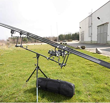 3 U-Rutenauflagen 3 elektronische Bissanzeiger Rod Pod Komplettset für 3 Ruten