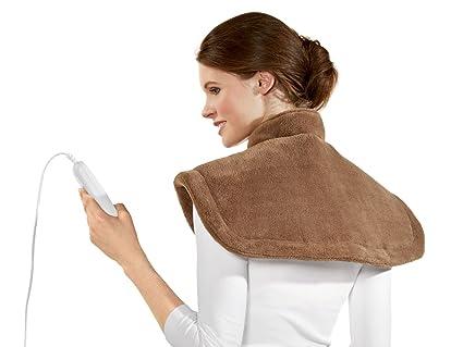 SSHK 100 B2 - Manta eléctrica para hombros y cervicales (6 niveles de temperatura,