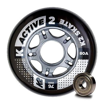 K2 Active 30B3008.1.1.1SIZ - Juego de 8 Ruedas para Patines en línea