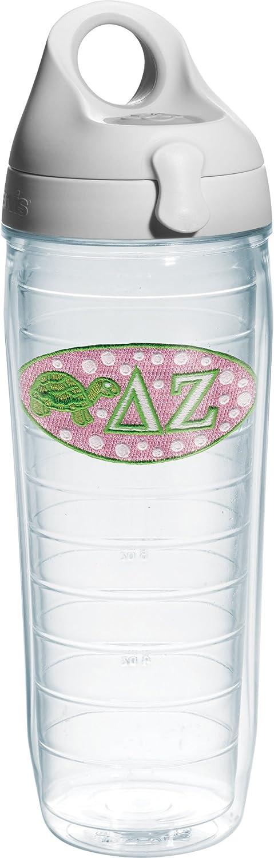 Tervis Greek Delta Zeta Sorority Water Bottle with Lid, 24 oz, Clear - 1076416