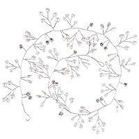Bewish Womens Wedding Hair Jewelry Crystal Rhinestone Pearl Embracing Hair Jewelry