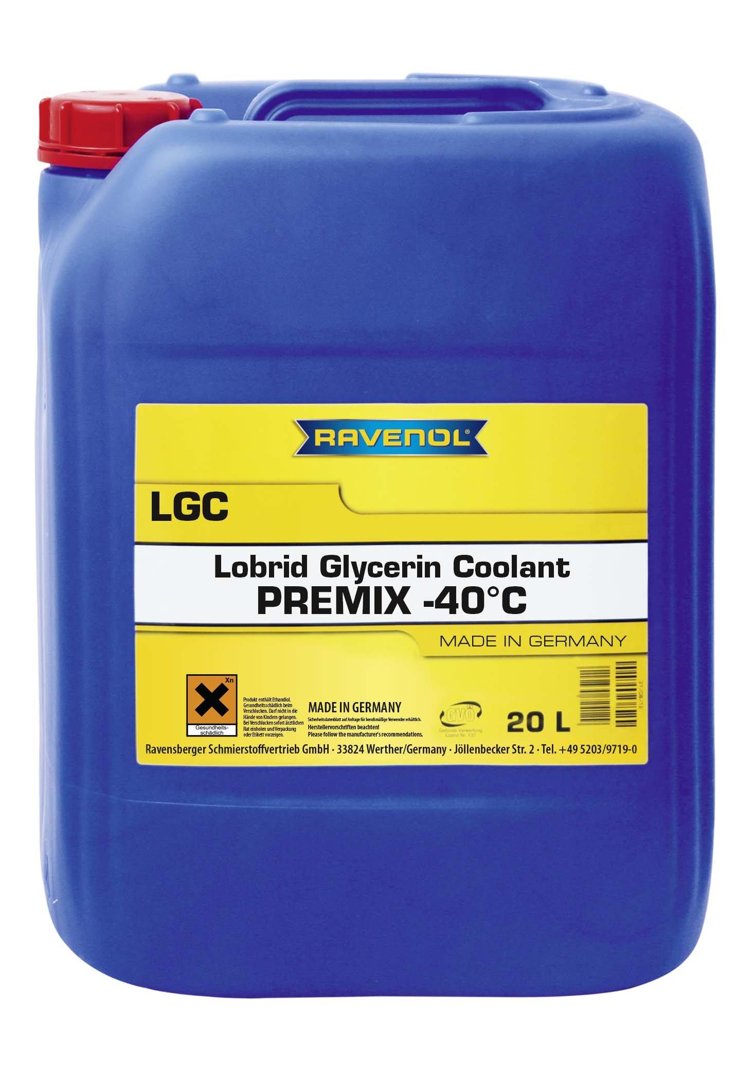 RAVENOL J4D2102-020 Coolant Antifreeze - LGC C13 Premix VW TL 774-J (G13) (20L Jug) by Ravenol