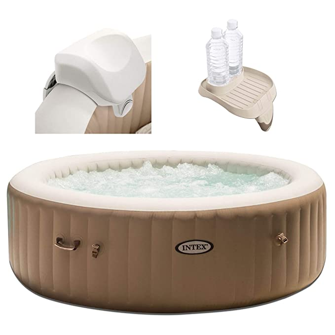 Amazon.com: Intex 28407E Pure Spa - Jarra inflable para 4 ...
