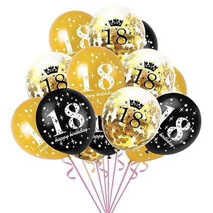 Oblique Unique - Globos de Confeti para 18 cumpleaños, 15 ...