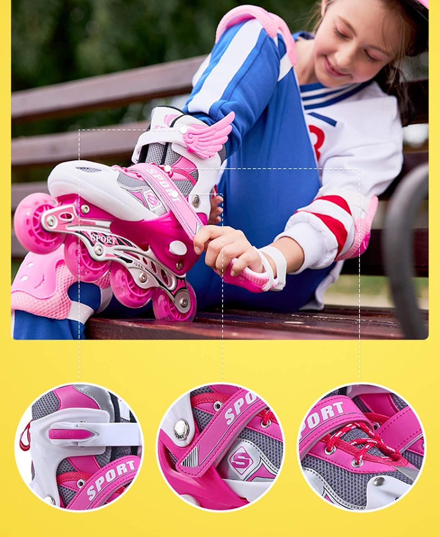 flash skates T-MIX Children skates Adjustable inline skates for boys and girls Christmas birthday gifts roller skates