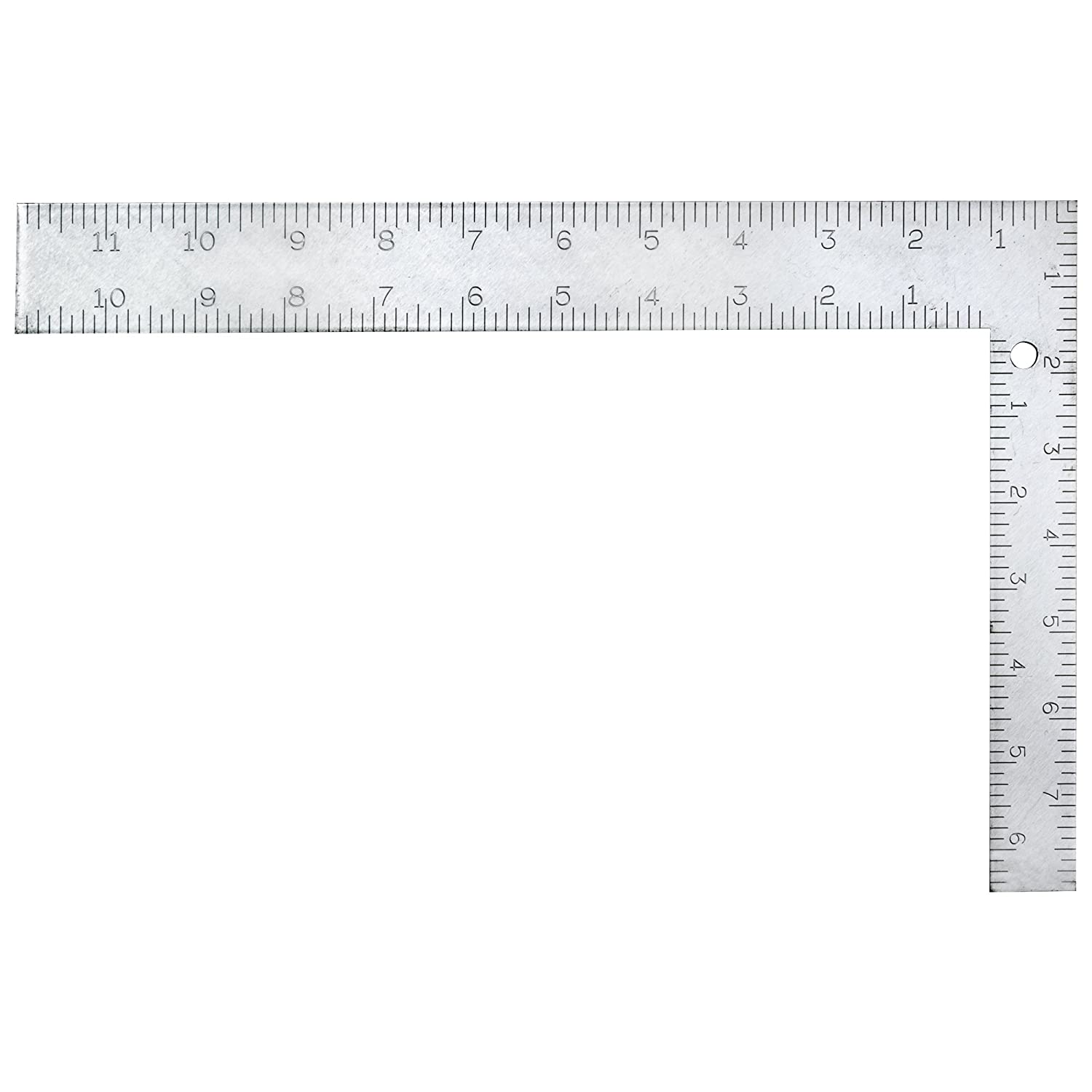 Sands Level Tool SL800P Etched English Metric Carpenter Square 8 Inch x 12 Inch Dark Grey