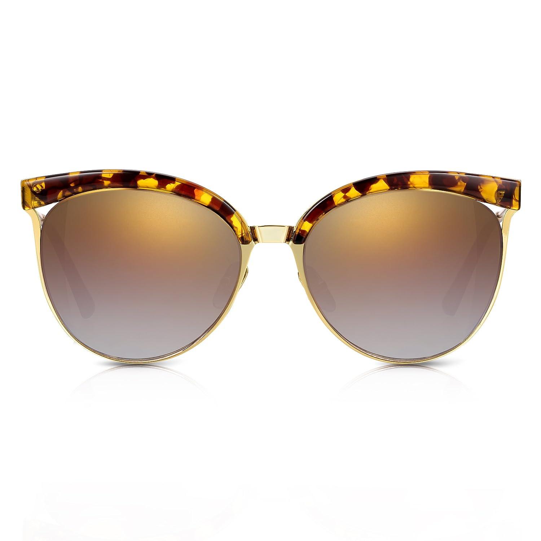 Sunglass Junkie Gafas de sol mujer, doradas y tortoishell ...