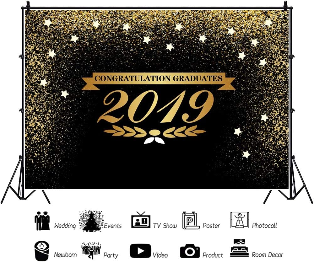 YEELE 2019 Graduation Backdrop Fabulous College Students Artistic Portrait Photography Background 10x8ft Senior High School College Students Party School Events Photoshoot Props Photo Booth