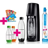 SodaStream Easy Sodamaker-set, voordeelverpakking met CO2-cilinder, 2 x 1 l PET-fles, 2 x 0,5 l PET-fles, 6 x…