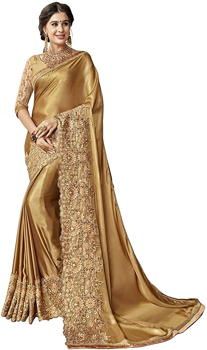 Marriage View Peach Readymade Sari Blouse Saree Blouse Choli Fabric Craft Tunic Top Floral Embroidered Banglori Silk For Women Made In India