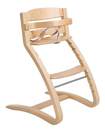 naturfarben roba TreppenhochstuhI Move von Babyhochstuhl bis Jugendstuhl in R/ückenlehne und Sitz flexibel verstellbarer Hochstuhl Holz