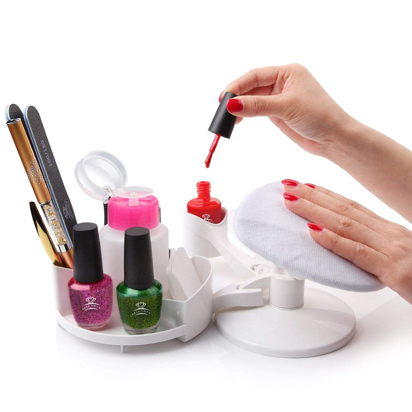 Makartt Nail Gel Polish Nail Design Base Studio Tool with Gel Holders and Multi Angle Rest, Great Support for Nail Salon Home DIY Manicure Pedicure Nail Art : Beauty