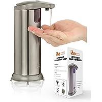 ibo Dispensador Jabon Automatico De Liquidos Manos Libres Acero Inoxidable Impermeable para Cocina Y Baño Touchless Soap…