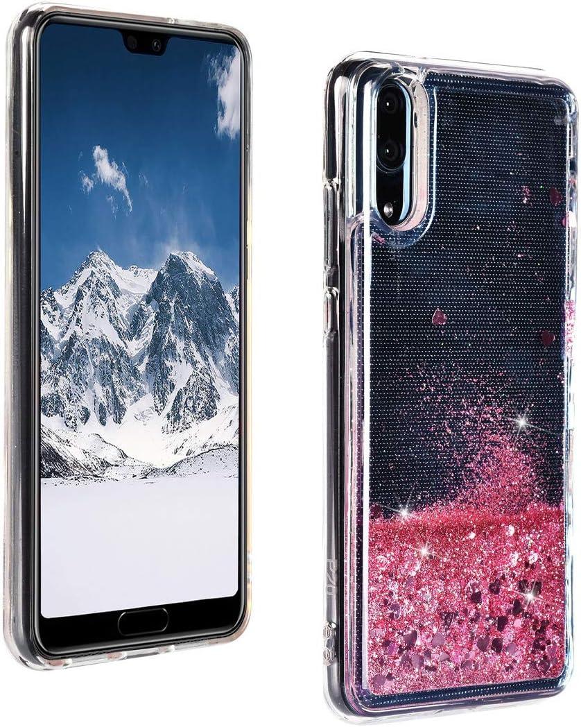 ToMoYi Blling - Funda para Huawei P20 con purpurina para teléfono móvil con líquido y arenas movedizas, de silicona TPU suave, para smartphone Huawei P20, Rosa: Amazon.es: Instrumentos musicales