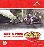 BaseKamp Freeze Dried Food Meal Spicy Tomatillo Pork & Rice (Pack of 12)