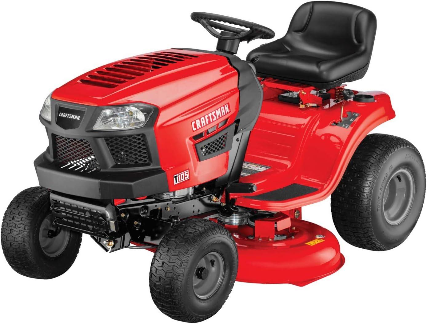 Craftsman T105 439cc Single Engine Series 42-Inch Gas Powered Riding Lawn Mower