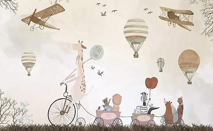 amazon com murwall vintage hot air balloons, animals and aircraft
