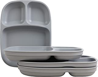 "product image for Re-Play Made in USA, Set of 4 (10"" Divided Tray, Grey) Eco Friendly Recycled HDPE"