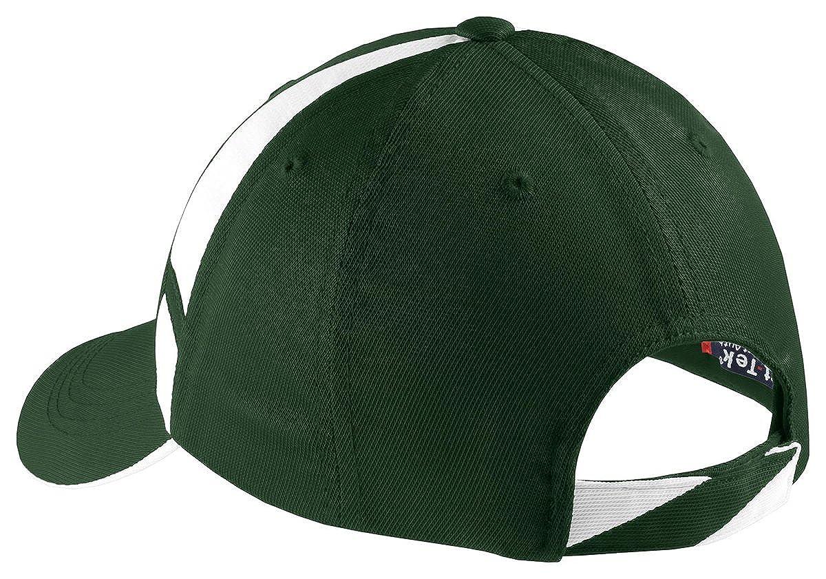 Sport-Tek - Gorra de béisbol - para hombre multicolor negro/blanco ...