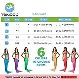 Tendol 3 Pc Swimming Mermaid Tail, Monofin