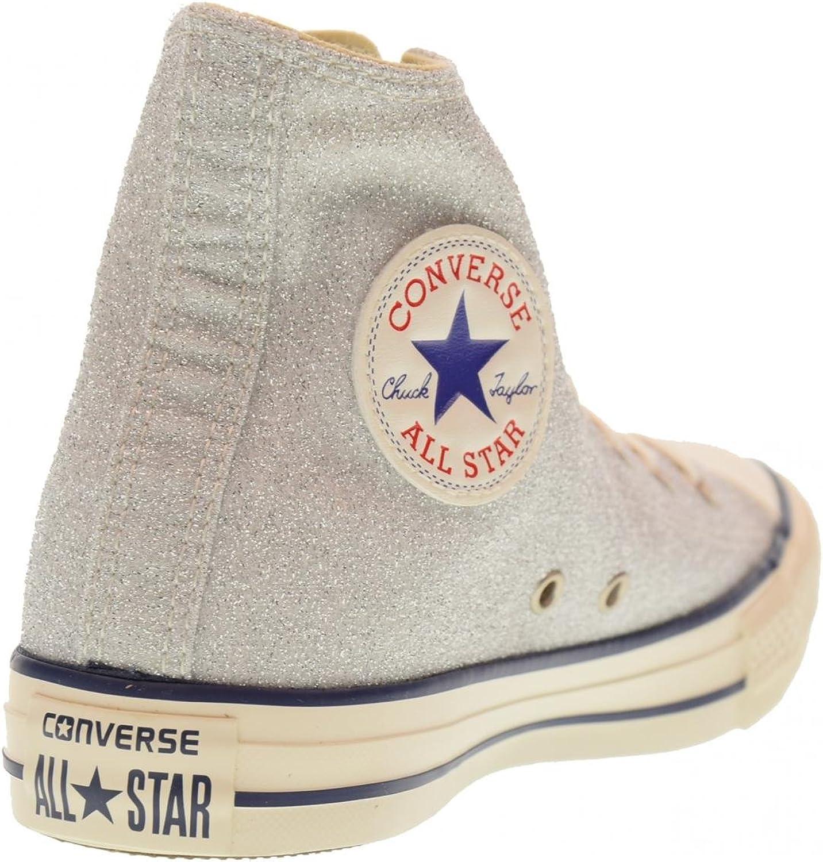 Converse Altos Zapatos de Las Zapatillas de Deporte de Las Mujeres 560951C Plata